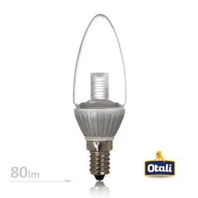 E14 3W 不拉尾水晶燈 110V (白光/黃光) 2入組